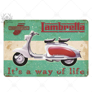 Lambretta Scooter Vintage Tin Signs