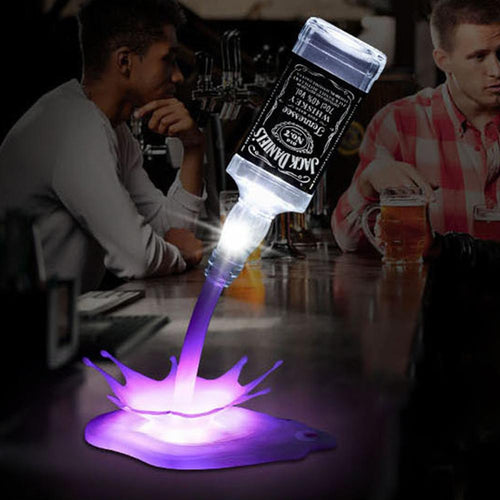 USB Bottle Lamp - Bar Party LED Bottle Spill Lamp - Man-Kave