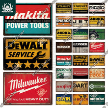 Load image into Gallery viewer, Garage / Motors / Tools Vintage Metal Signs
