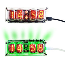 Load image into Gallery viewer, Glow Tube Nixie Clock RGB LED - DIY Kit
