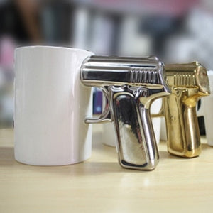 Pistol Grip Gun Mug - Shoot up a Coffee - Man-Kave