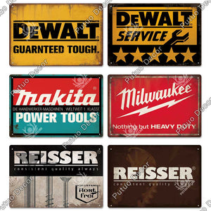 Garage / Motors / Tools Vintage Metal Signs