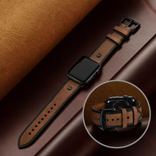 Load image into Gallery viewer, Genuine leather strap for apple watch