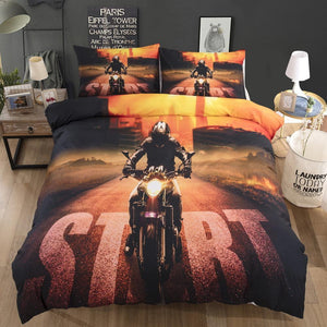 Bedding Set for the Motorcycle Fans