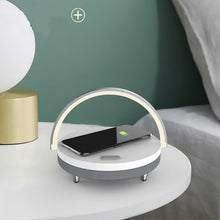Load image into Gallery viewer, Bluetooth Speaker + Wireless Charger - LED BEDSIDE LAMP