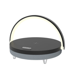 Bluetooth Speaker + Wireless Charger - LED BEDSIDE LAMP