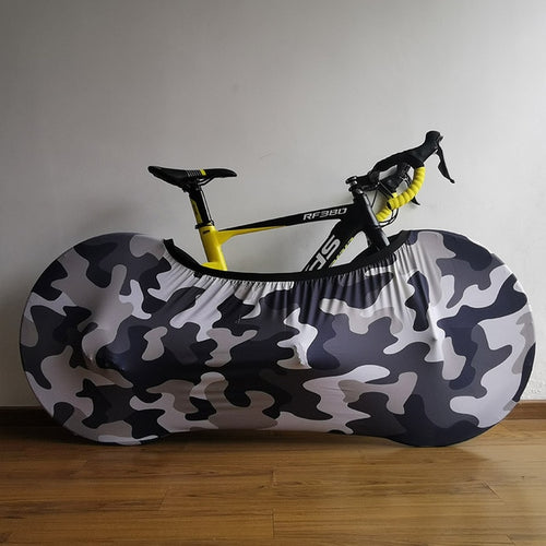 Camouflage Stretch Bicycle Indoor Cover | Cycle Sock - Man-Kave