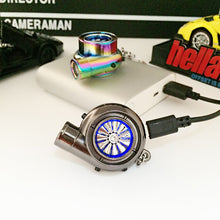 Load image into Gallery viewer, Car Turbo Keychain USB Charging Cigarette Lighter