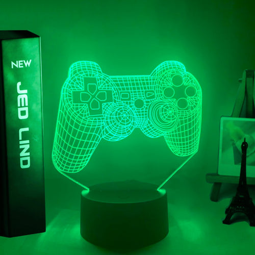 PS Game Controller Led Night Light for Kids - Man-Kave