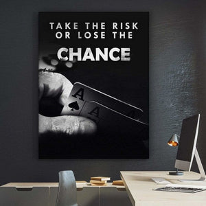Wall Artwork - Poker / Take The Risk
