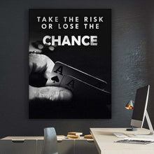Load image into Gallery viewer, Wall Artwork - Poker / Take The Risk