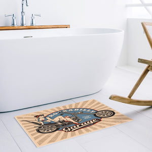 Anti-Slip Mat - Door Mat or Bath Mat - Rockabilly Motorcycle Design