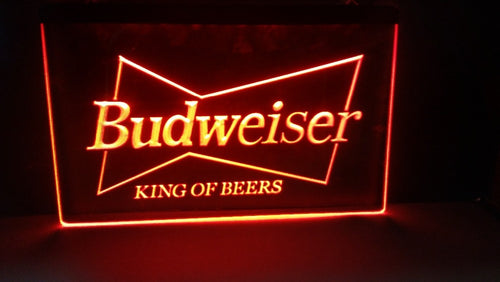 Budweiser LED Bar Sign - Man-Kave