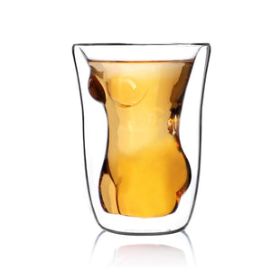 Sexy Beautiful Lady  Drinking Glass - 100ml Whiskey Glass - ManKave Gifts & Accessories