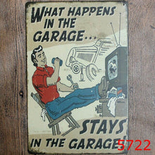 Load image into Gallery viewer, My Garage My Rules - 20x30cm Retro Tin Sign - Man-Kave