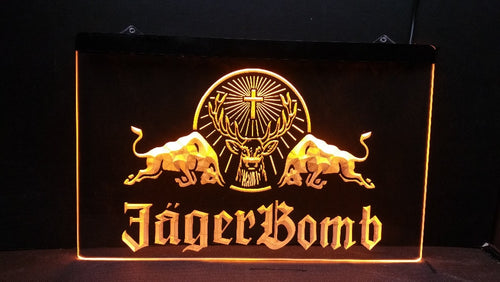 Jagermeister / Jager Bomb LED Bar Sign - Man-Kave