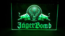 Load image into Gallery viewer, Jagermeister / Jager Bomb LED Bar Sign - Man-Kave