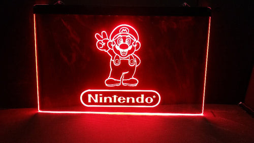 Nintendo  LED Neon Light Sign - Man-Kave