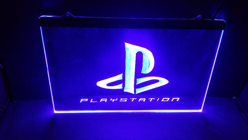 Playstation PS3, PS4, PS5 Game Room LED Sign / Light - Man-Kave