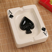 Load image into Gallery viewer, Poker Style Ceramics Ashtray