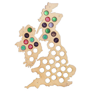 UK Beer Cap Map - Bottle Cap Holder