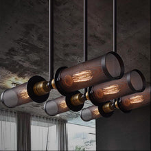 Load image into Gallery viewer, Industrial Loft Style Double Side Pendant Lamp - Metal Net Cover - ManKave Gifts & Accessories