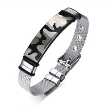 Load image into Gallery viewer, Stainless Steel Camouflage tag Bracelet