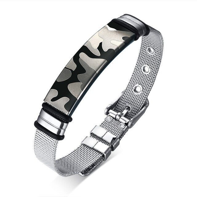Stainless Steel Camouflage tag Bracelet