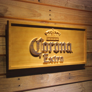 Corona Extra Beer 3D Wooden Sign - Man-Kave