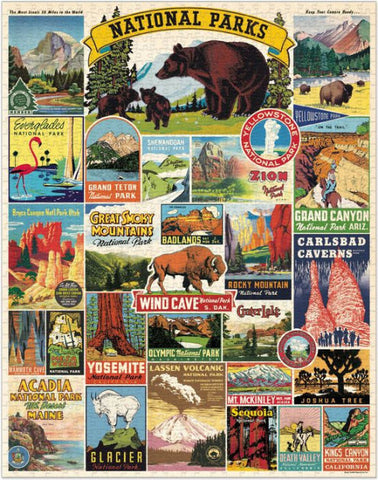 National Parks Vintage-Inspired Puzzle