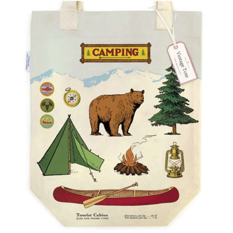 Vintage-Inspired Camping Tote