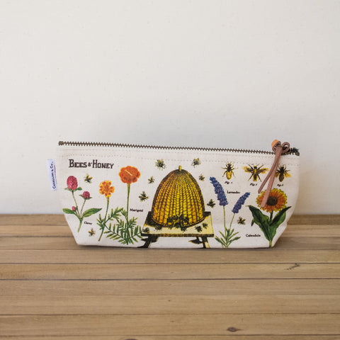 Bees & Honey Canvas Pouch