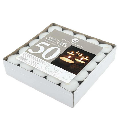 Box of 50 Premium Tea Lights