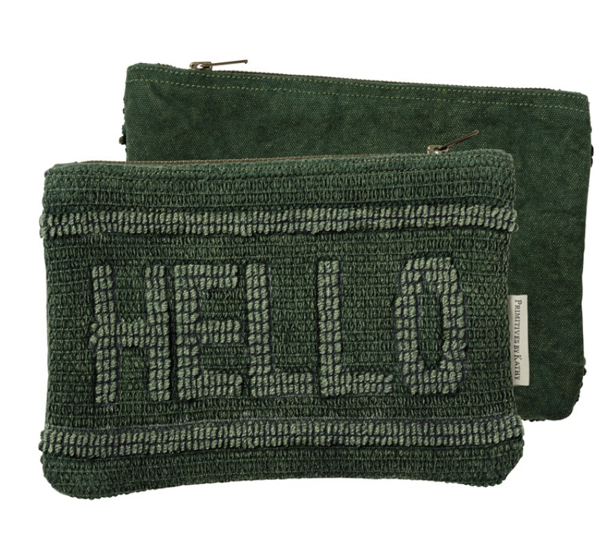 Hello Zipper Pouch