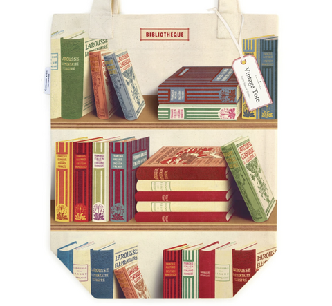 Vintage Library Books Tote