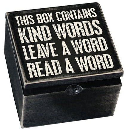Words Of Kindness Hinged Box