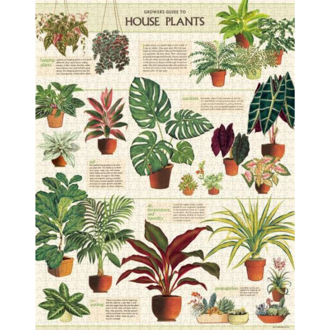 Houseplants Vintage-Inspired Puzzle