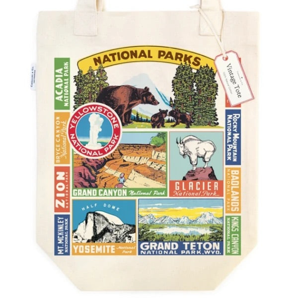 Vintage-Inspired National Parks Tote