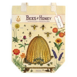 Vintage-Inspired Bees & Honey Tote