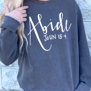 "Humble ""Abide"" Gray Sweatshirt"