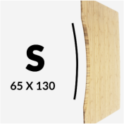 Load image into Gallery viewer, Standard Curve Carbonised Bamboo (130 x 65cm)