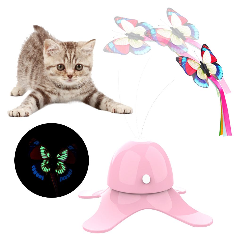 Catch the Butterfly Rotating Cat Toy