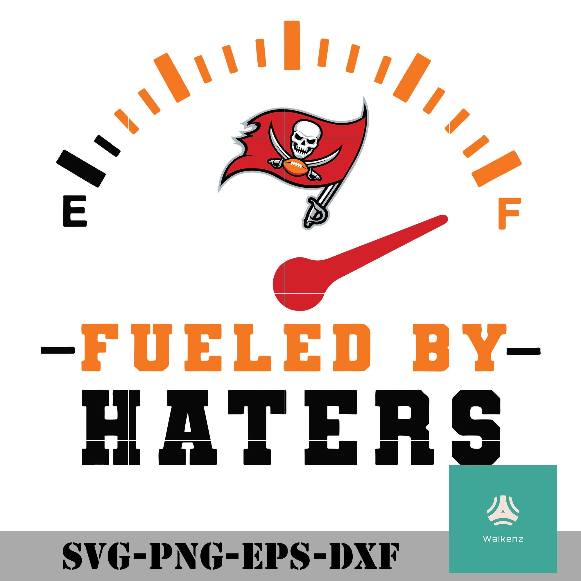 Tampa Bay Buccaneers Fueled By Haters Svg Tampa Bay Buccaneers Svg P Waikenz