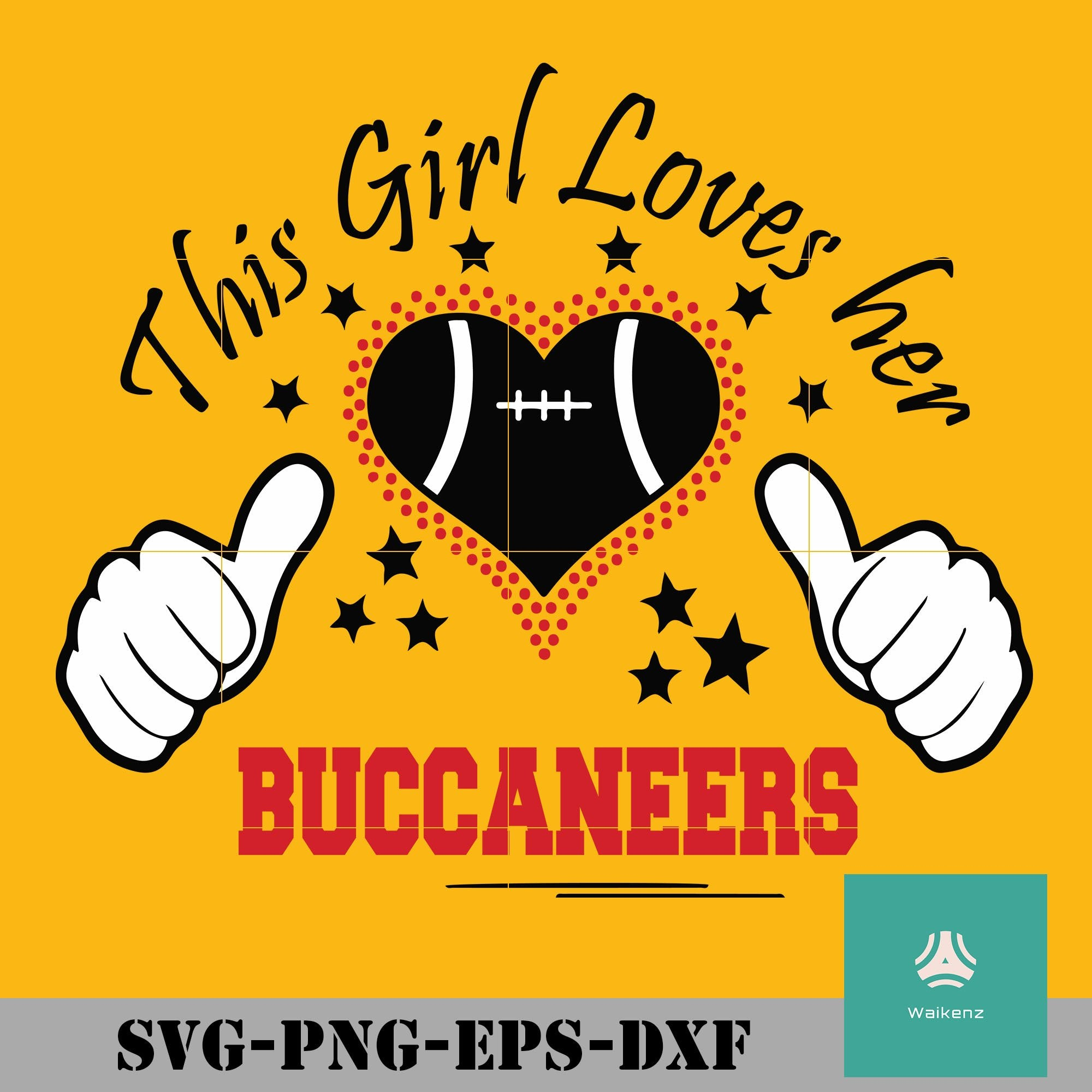 This Girl Loves Her Buccaneers Svg Tampa Bay Buccaneers Svg Buccanee Waikenz