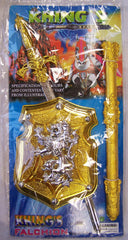 GOLD KNIGHT SWORD & SHIELD SET (Sold by the piece or dozen)