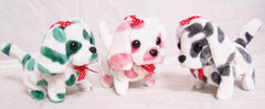 BATTERY OPER MULTI COLORED SPOTTED DALMATION WALKING BARKING DOG  (Sold by the piece)