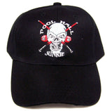 POOL HALL JUNKIE 24/7 BILLARD BALLS BASEBALL HAT  (Sold by the piece) -* CLOSEOUT $1.95 EA