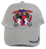 BIKER BROTHERS SHEILD BONDED BY STEEL BASEBALL HAT (Sold by the piece) *- CLOSEOUT NOW $ 1.50 EA