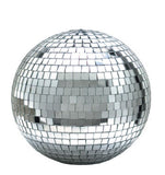 12 INCH SILVER REFLECTION MIRROR DISCO BALL (Sold by the piece)