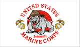 UNITED STATES USMC MARINES BULLDOG MASCOT military 3 X 5 FLAG ( sold by the piece )